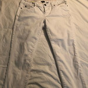 NWOT White J.Crew Toothpick cropped jeans